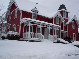 Ellsworth house photo - Red Rooster in Winter