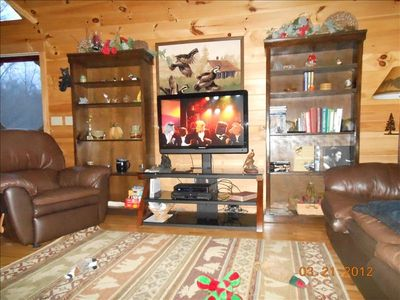 Bryson City cabin rental - 42 in. flat screen hdtv. hddvr w/ list of movies, dvd and wii.