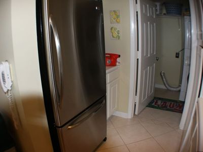 Stainless fridge we bought back when we had money : )