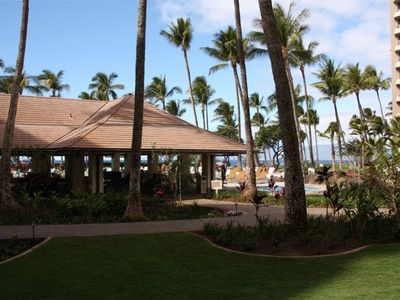 Lanai view to pools