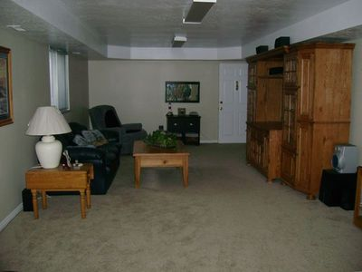 second family room in basement