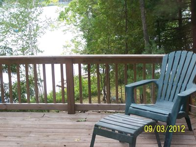 deck view of lake