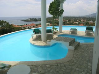 Playa Cofresi villa photo - Infiniti pool with one of the islands