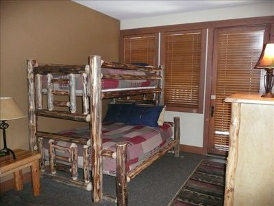 4th Bedroom-Full/twin bunk.  Doorway to private patio and hot tub!