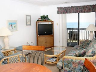 Ocean Drive Beach condo photo - North Myrtle Beach condo rental Chateau By The Sea H3 oceanfront living room