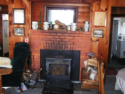 Fireplace w/Woodstove