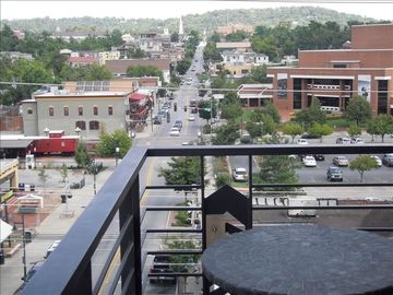 Fayetteville condo rental - Awesome view of Dickson street and the mountains!!