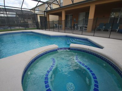 Private pool and spa with fence & lanai
