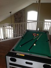 Arrowhead Lake house photo - Loft with pool table and air hockey table