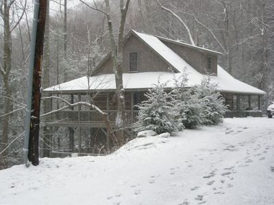 Winter at Boulder Falls Retreat