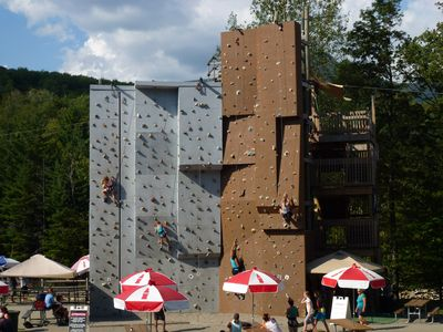 Hanging out at Loon with its rock climbing wall, zipline, aerial forest, & more.