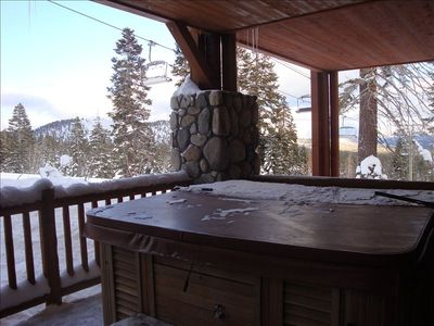 View From the Jacuzzi On Lower Deck-See the Chair Lift?