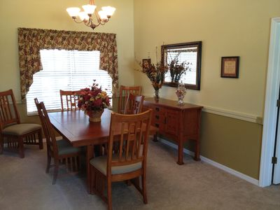 Formal dining room for special occasions or just a change of pace