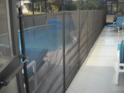 Child safety fence - peace of mind for your vacation.