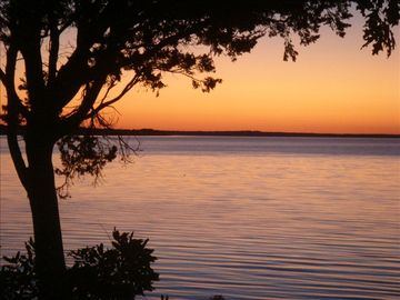 Peconic Bay View at Dawn from bay side yard
