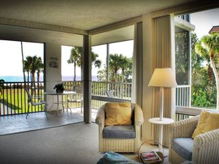 Sanibel Island condo photo - Looking thru the corner Lanai from the Great Room