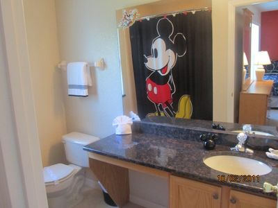 Mickey Bathroom adjoining to the Mickey Room