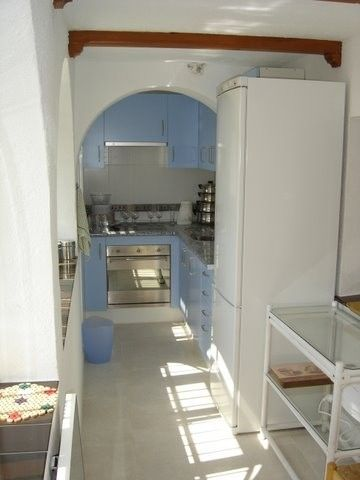 Kitchen with pull up table