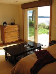 Port Ludlow house photo - Guest bedroom with deck access; twin beds or king