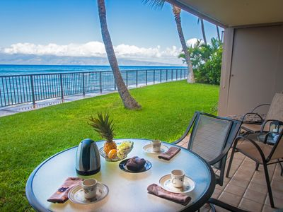 Oceanfront only a yard to the ocean private corner unit no passer bys!