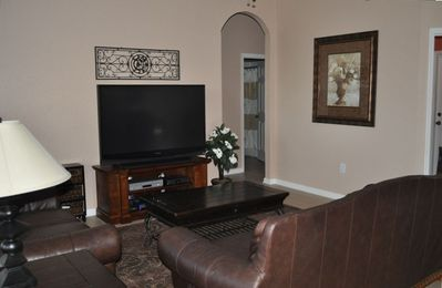 "Windsor Hills house rental - Family Room with 60"" TV, DVD, & XBOX"