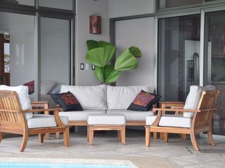 Ojochal villa photo - Custom Teak Furniture, Hand stitched cushions