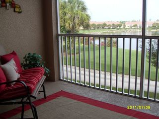 Naples condo photo - Lanai overlooking Lake and 16th Green