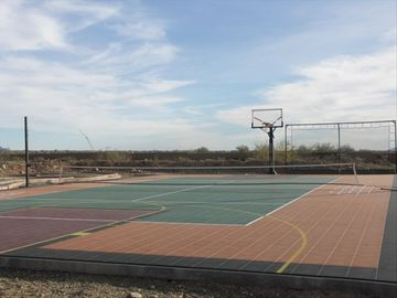 Sportcourt for Basketball, Tennis, Volleyball, Hopscotch, shuffleboard, 4 square