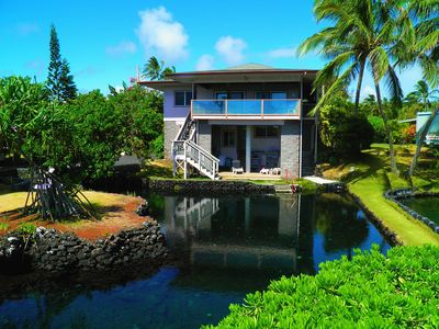 Kapoho Paradise Oceanfront Home from Pond View