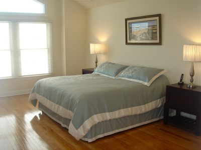North Beach house rental - Master Bedroom 2 With Vaulted Ceiling & Jacuzzi Tub