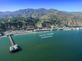 Malibu apartment photo - Aerial photo showing the location of vacation rental - - beachfront