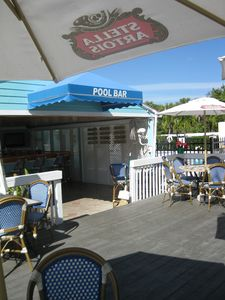 A great place to enjoy a lunch or cooling drink at the club pool