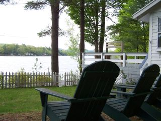 Cossayuna house photo - Enjoy the view from the Adirondack chairs