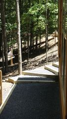 Berkeley Springs cabin photo - View of hammock from hot tub side of deck