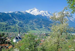 Garmisch-Partenkirche as a beautiful summer resort