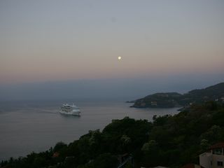 Zihuatanejo condo photo - View of full moon from bedroom suites