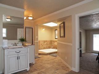 Salt Lake City house photo - MASTER BATHROOM (JETTED JACUZZI TUB, SHOWER, 2 VANITIES, CLOSET)
