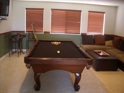 Pool table/video game/rec room