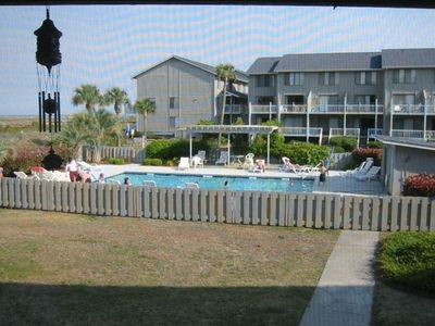 View of pool from screen porch
