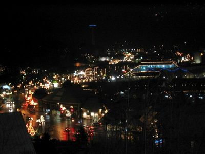 Downtown Gatlinburg from Balcony