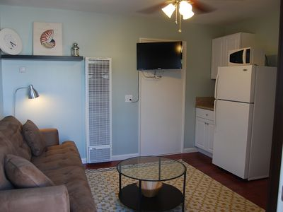 2nd Bedroom with convertible couch/bed, television with cable.