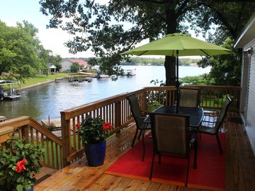 Hot Springs house rental - Deck overlooking Lake Hamilton