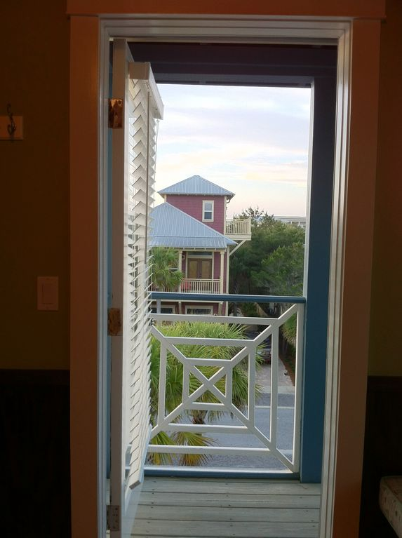 Step out onto the 3rd story balcony to view the sunsets and stars. Beautiful!