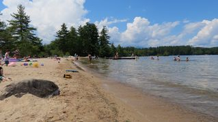 Kezar Lake cottage photo - Beautiful public beach next to property