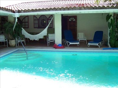 Holetown villa rental - shallow entence of 24X15 ft. Private Pool