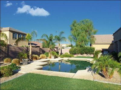 Resort Style Backyard with Heated Pool