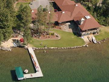 Sandpoint house rental - 2 wooded acres, 365' of private waterfront on your own private 'point'!