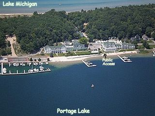 Onekama condo photo - Aerial View of Portage Point
