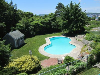 Gloucester - Annisquam apartment rental - Private pool. Open late-May to mid-Sept. Comes with toys and goggles.