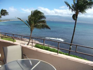 Lanai View of Maalaea Bay Home to Humback Whale Migration & Haleakala Volcano